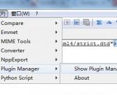 notepad++ 安装Emmet插件开发html、css。